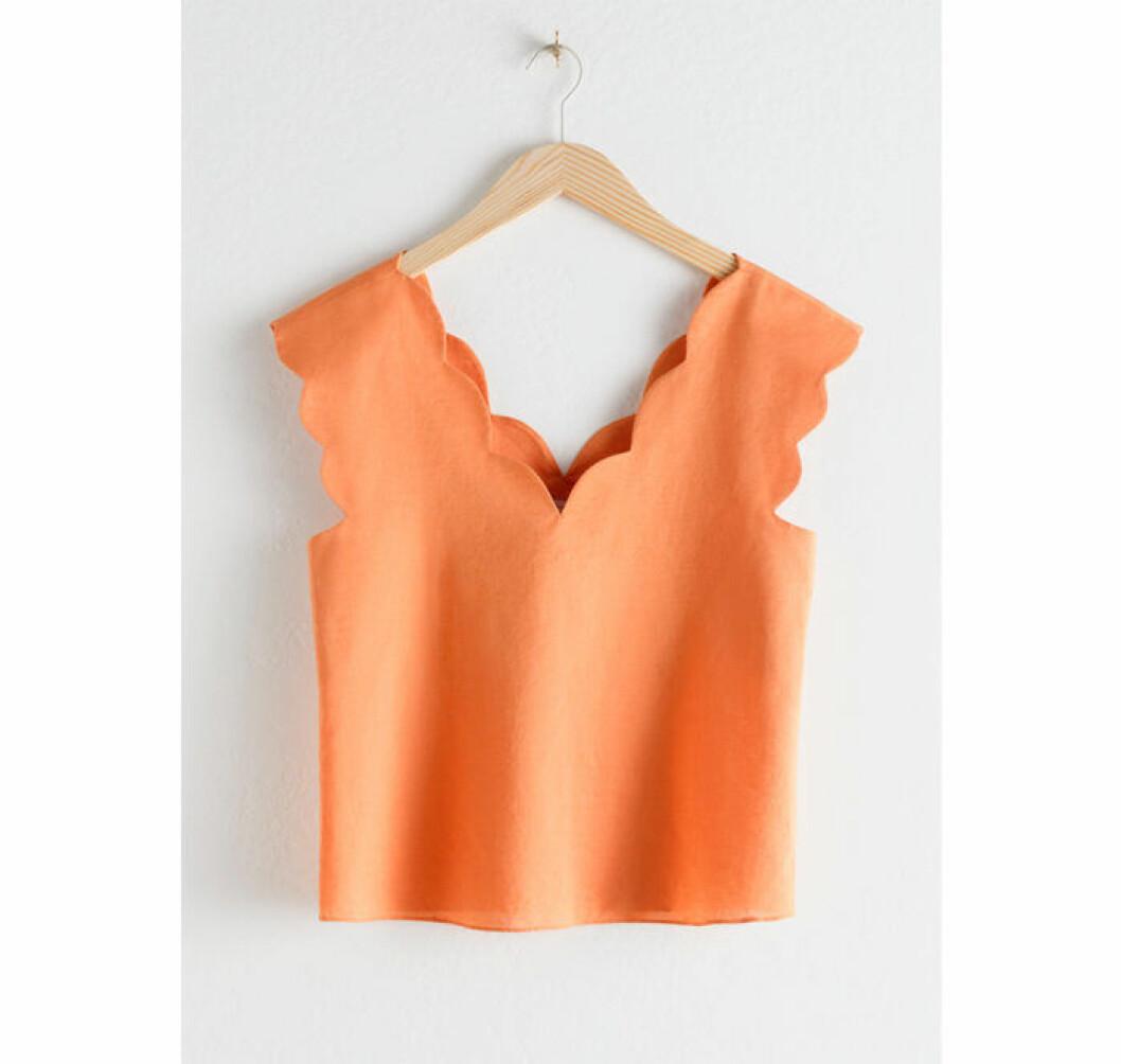 Aprikosfärgat linne från & other stories