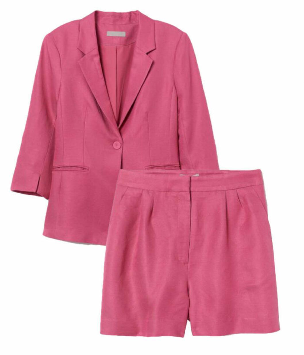 Rosa set i linne från H&M