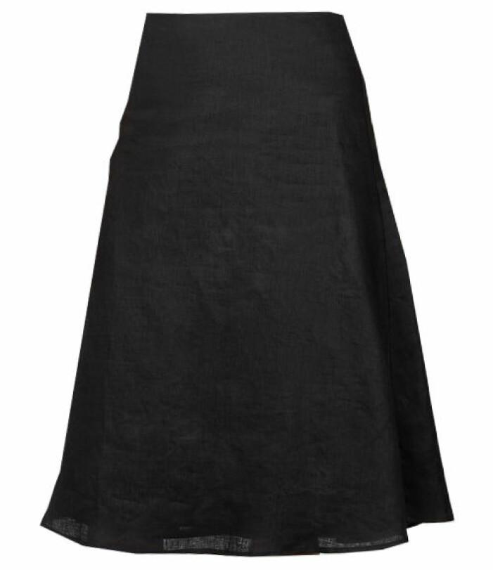 svart linnekjol
