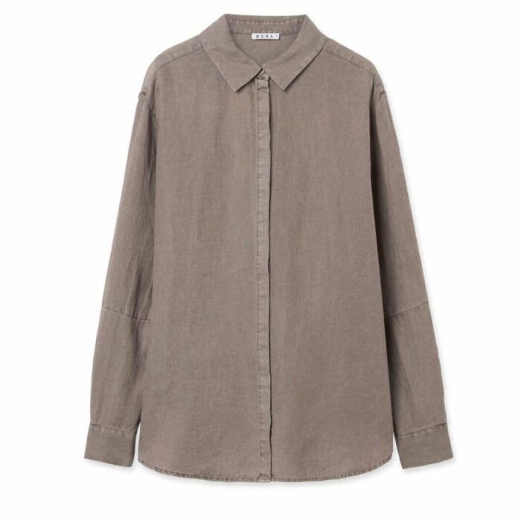Linneskjorta brun