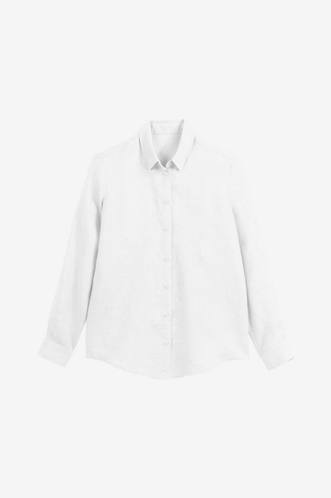Vit skjorta i linne