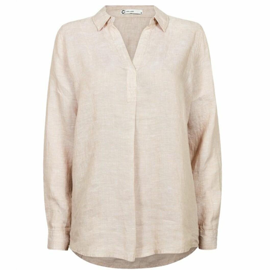Beige linneskjorta från Cubus