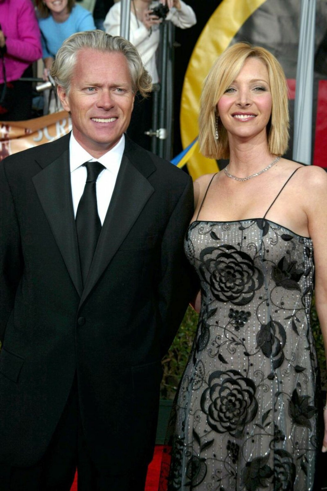 Lisa Kudrow och Michael Stern ler