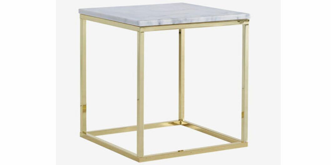 Litet soffbord med marmorskiva