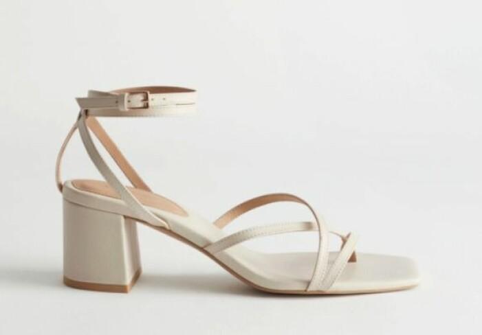 Ljusbeige sandaletter