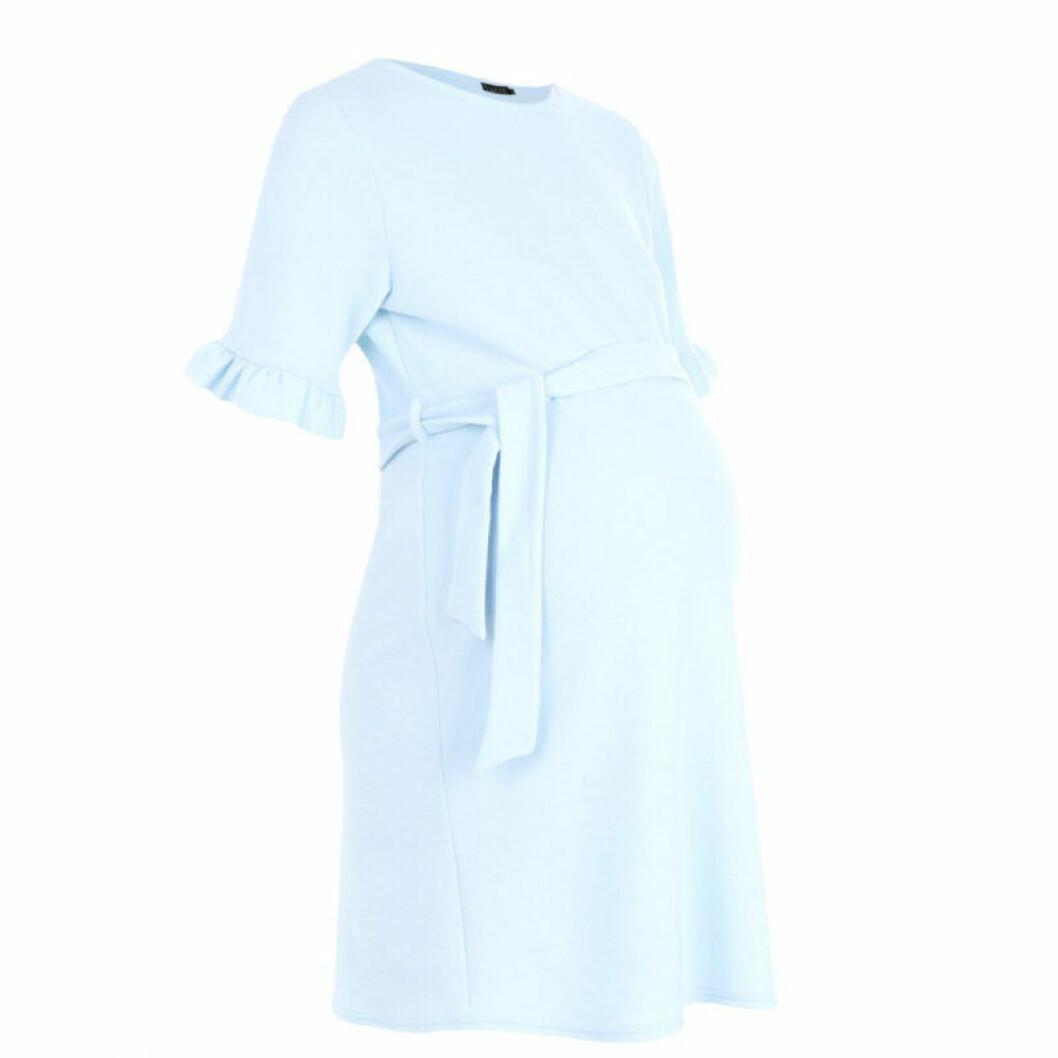 Ljusblå gravidklänning