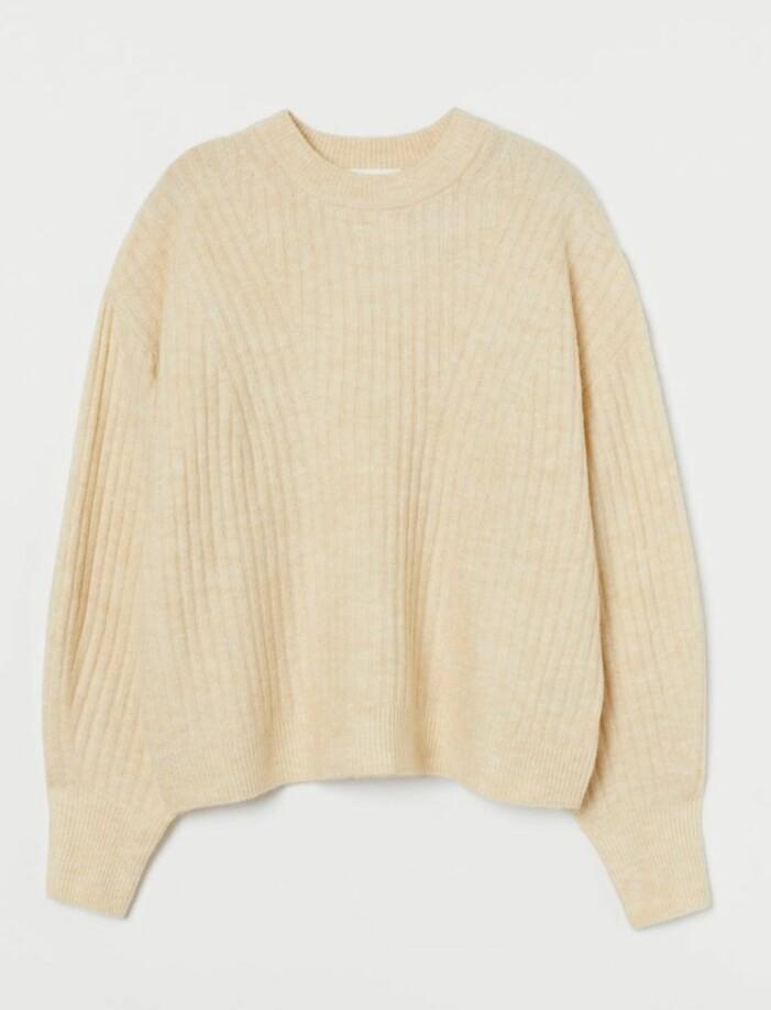 ljusgul stickad tröja från H&M