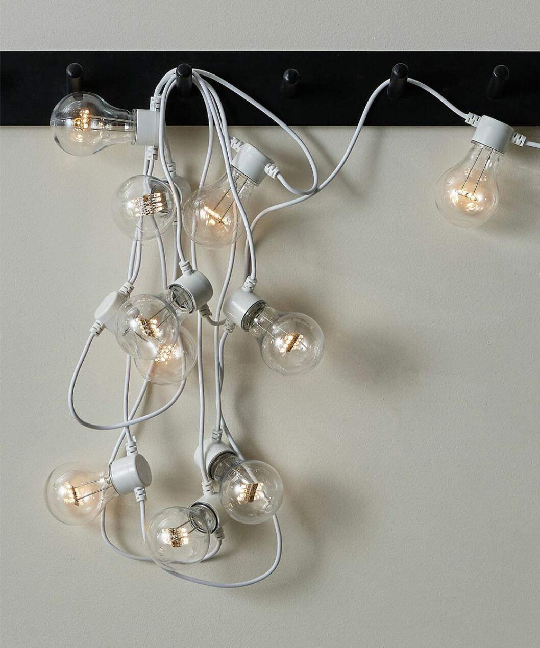 Vit ljusslinga från Ellos Home