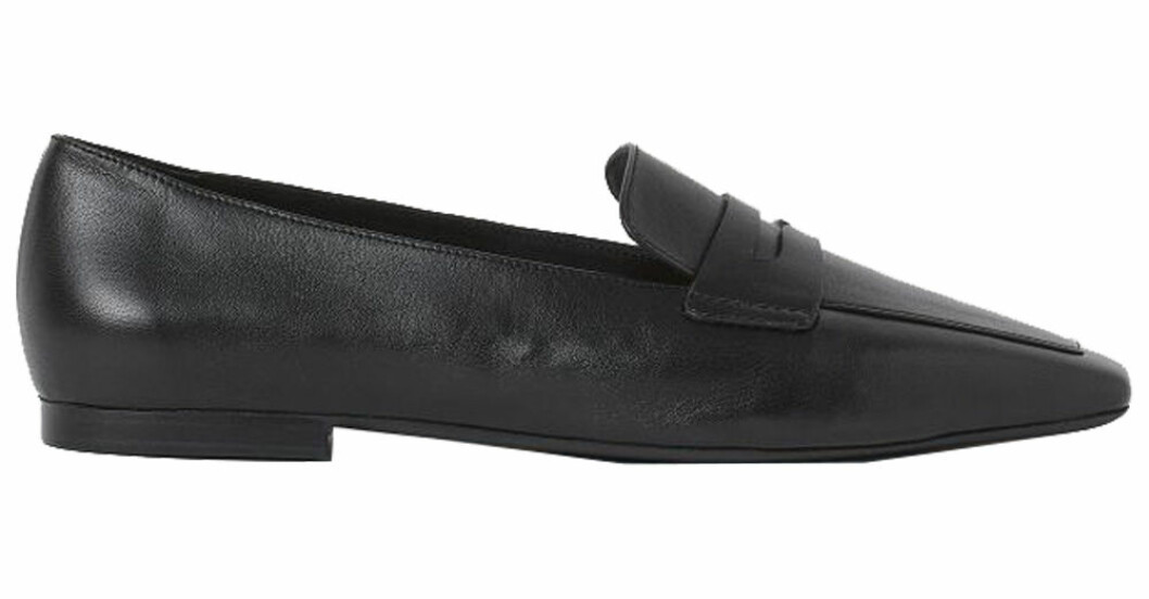 svarta loafers i skinn