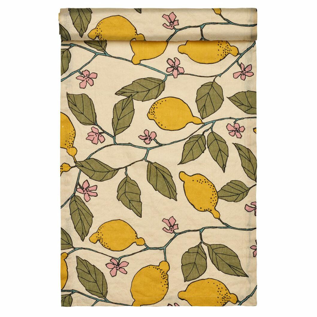 Löpare med citronmönster från Linum Design