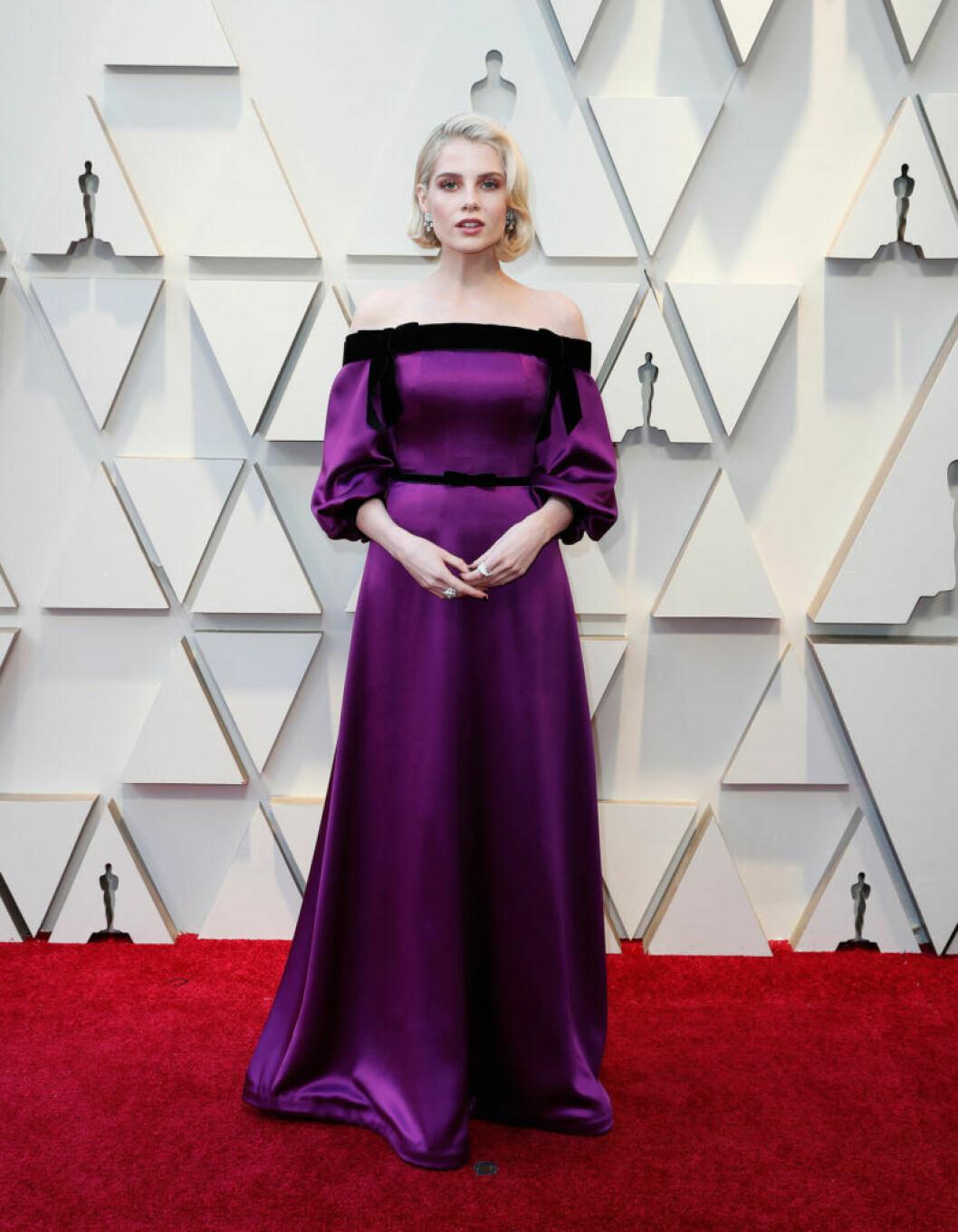 Lucy Boynton på Oscarsgalan 2019