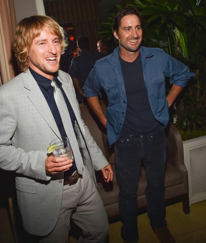 En bild på Owen och Luke Wilson på filmpremiären av She's Funny That Way, 2015.