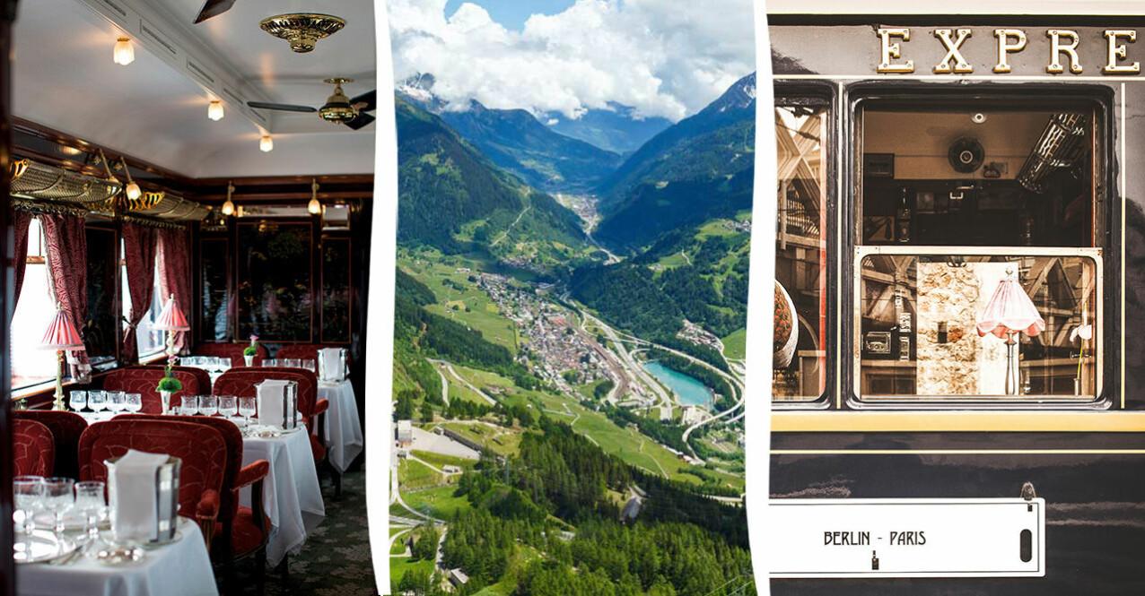 Restaurangvagn, Alperna och Orientexpressen