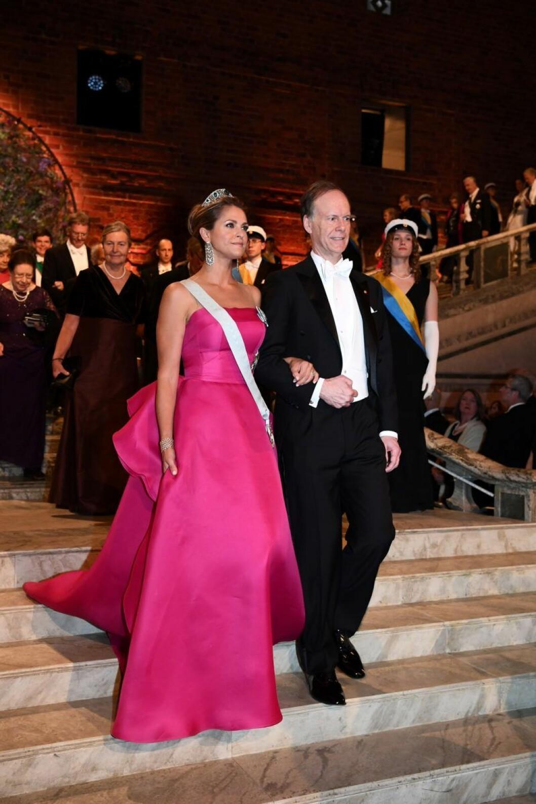 Prinsessan Madeleine på Nobelfesten 2019