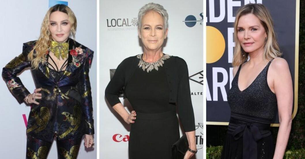 Madonna, Jamie Lee Curtis och Michelle Pfeiffer