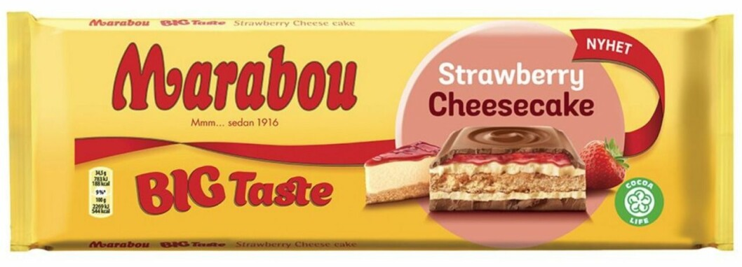 marabou strawberry cheesecake