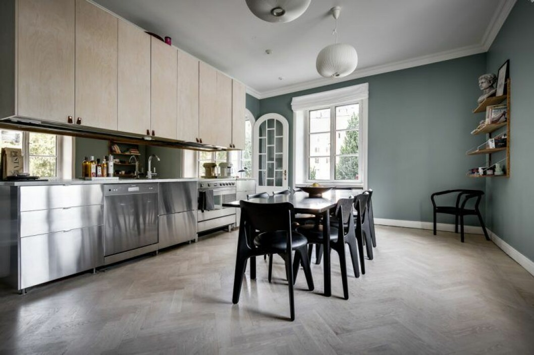 Köket i Margaux lägenhet