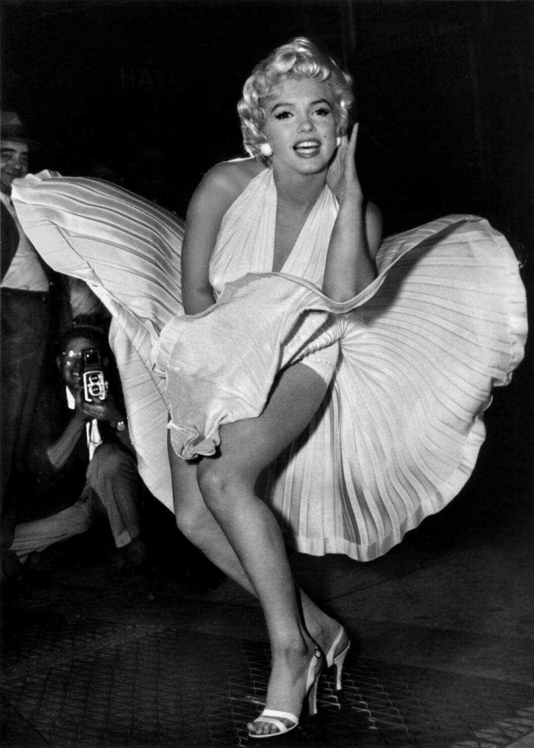 Marylin Monroe med blåsande kjol
