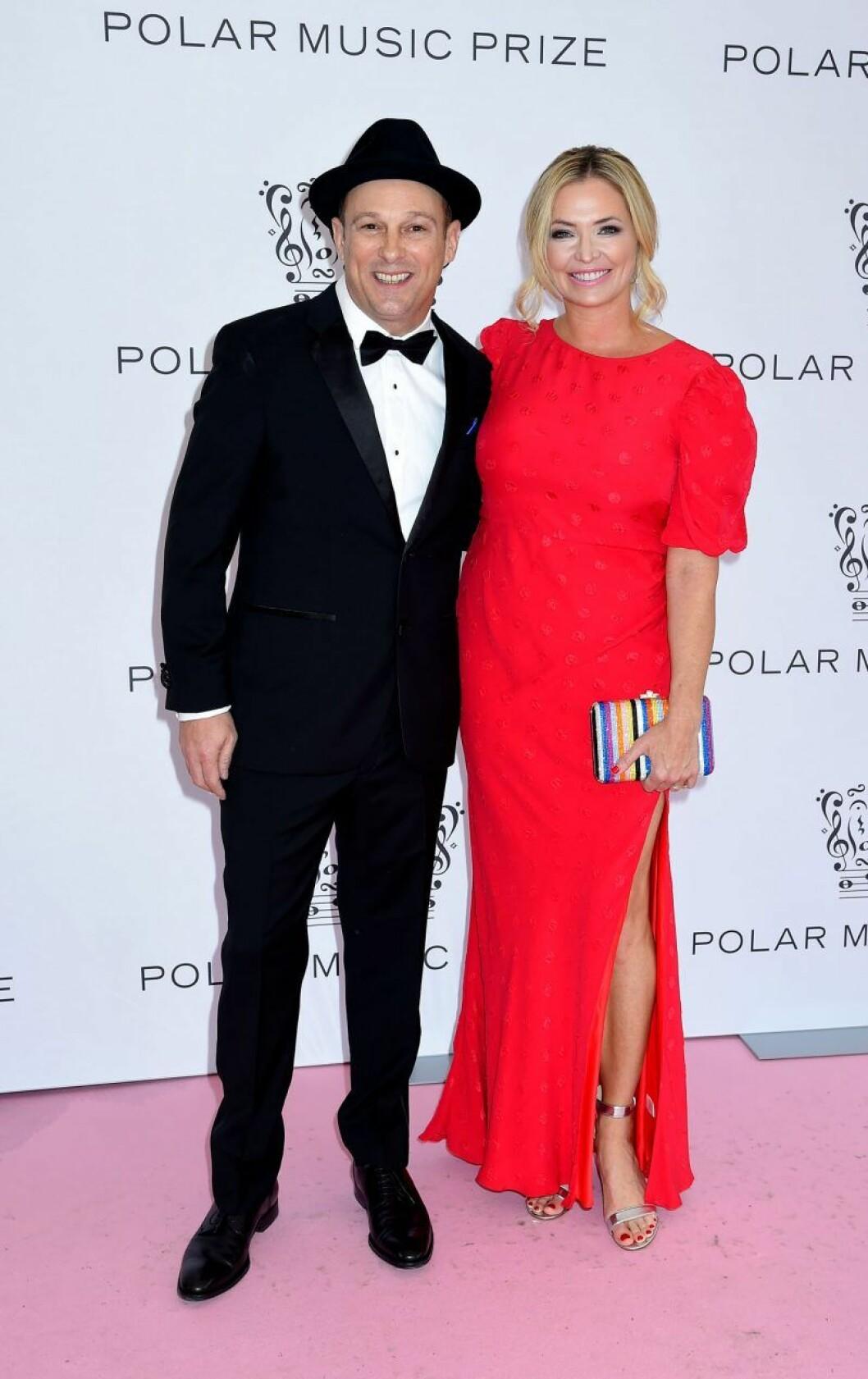 Mark Johnson och Whitney Kroenke, Palying for change, på rosa mattan på Polarpriset 2019