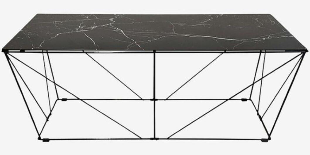 Soffbord med marmorfolierad glasskiva