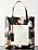 Skinnväska i stor modell. Väskan är svart med blommönster och logga. Väska från Marni.