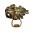 Ring med stor brun och gulfärgad sten på. Så kallad Pyrit. Ring från Märta Larsson.