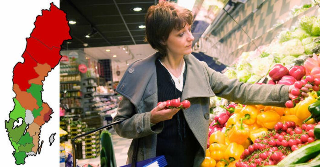 PRO:s prisundersökningen visar på var i landet maten är billigaste.