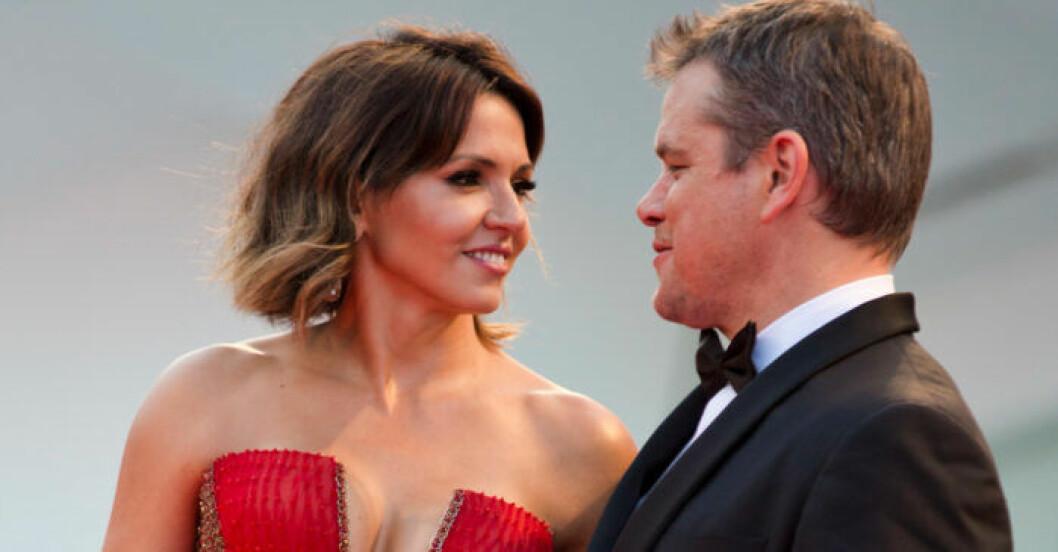 Matt Damon och Luciana.