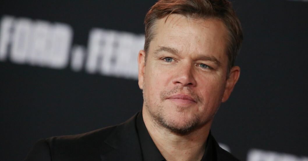 Matt Damon på röda mattan.