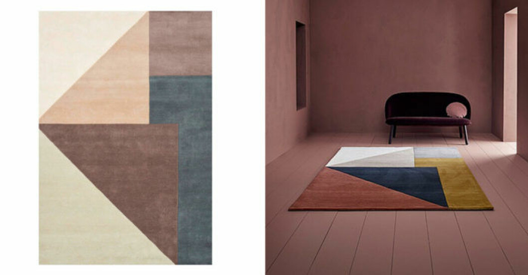 Stor matta blockfärg Aruto Linie Design