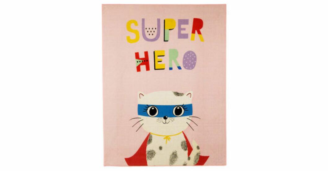 matta katt som är superhjälte