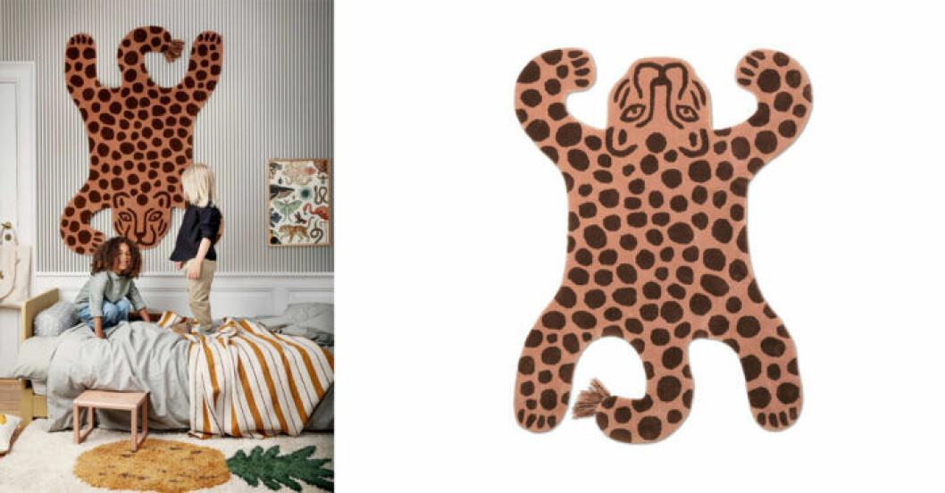 Matta med leopard, barn