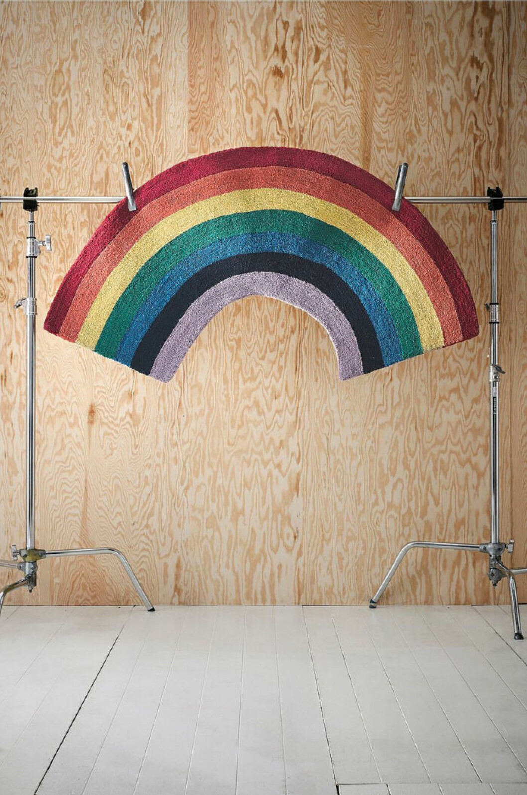 matta med regnbåge