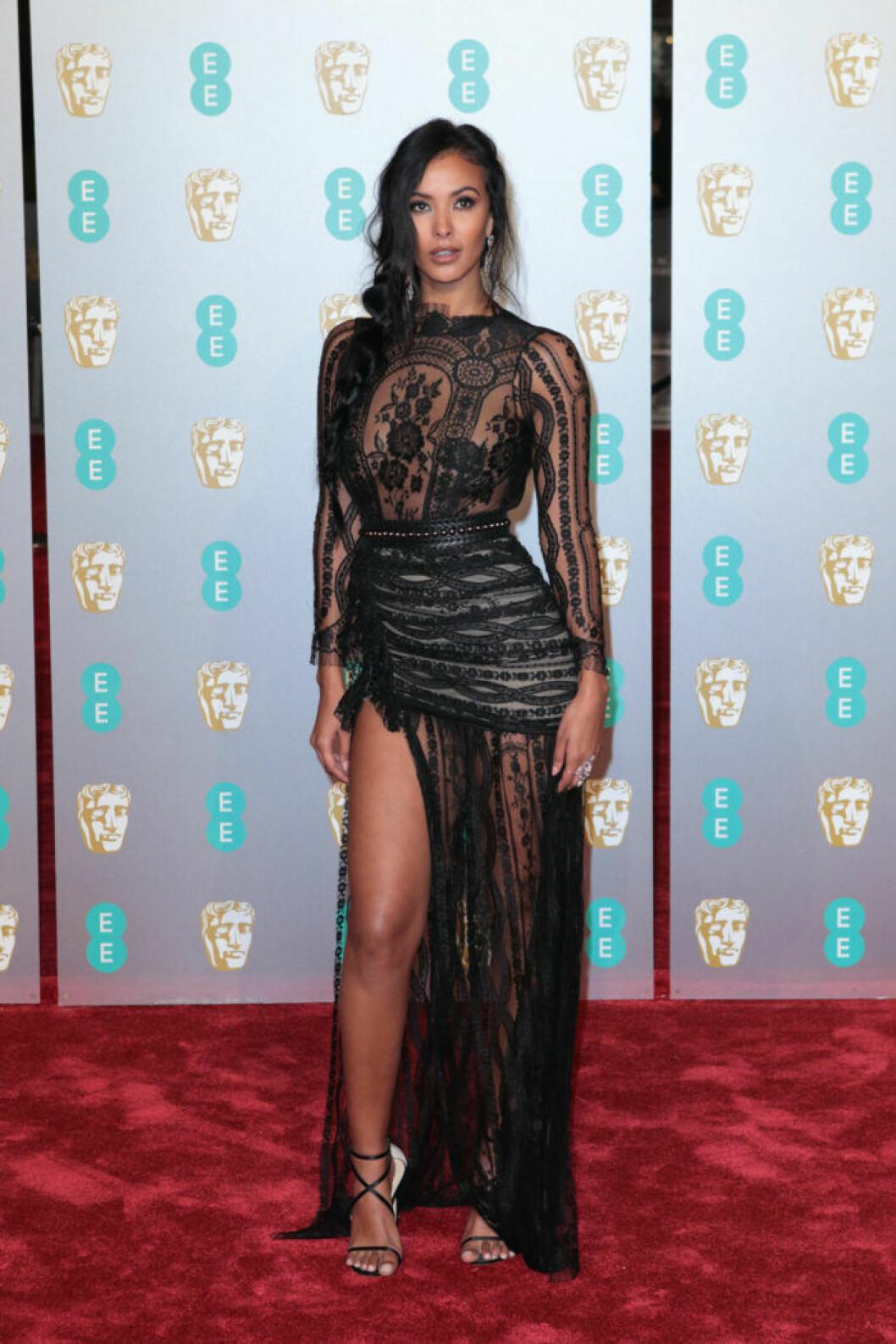 Maya Jama på BAFTA 2019