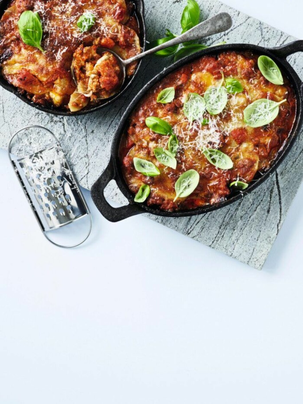 recept potatislasange med chorizo