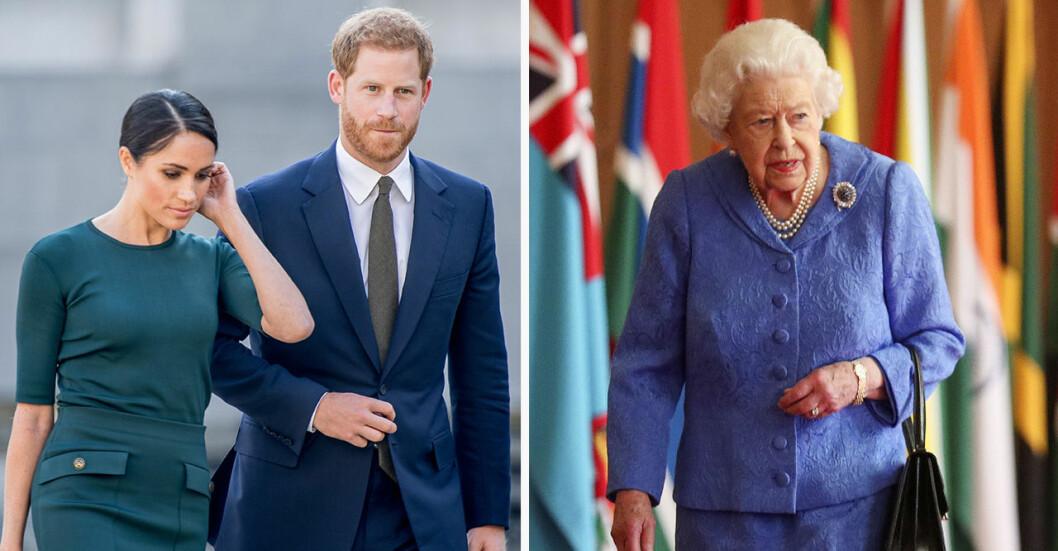meghan harry drottningen