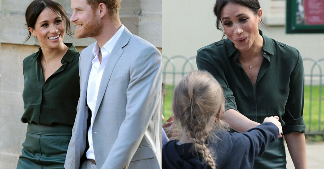 Meghan Markle i blus från Other Stories