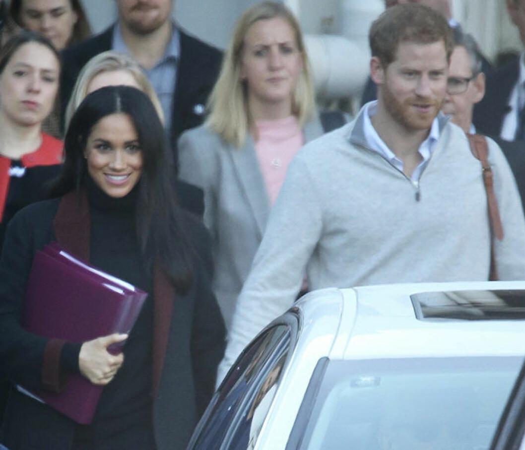 Meghan Markle och prins Harry i Sydney.