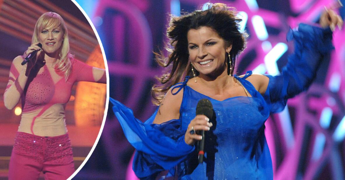Charlotte Perrelli och Carola i Melodifestivalen