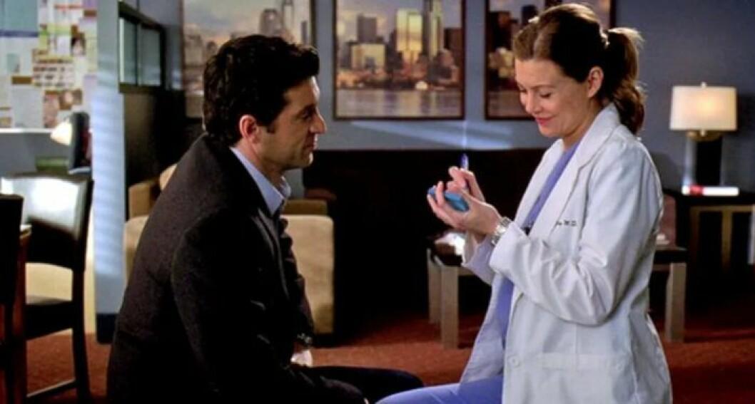 Meredith och Derek post it-bröllop