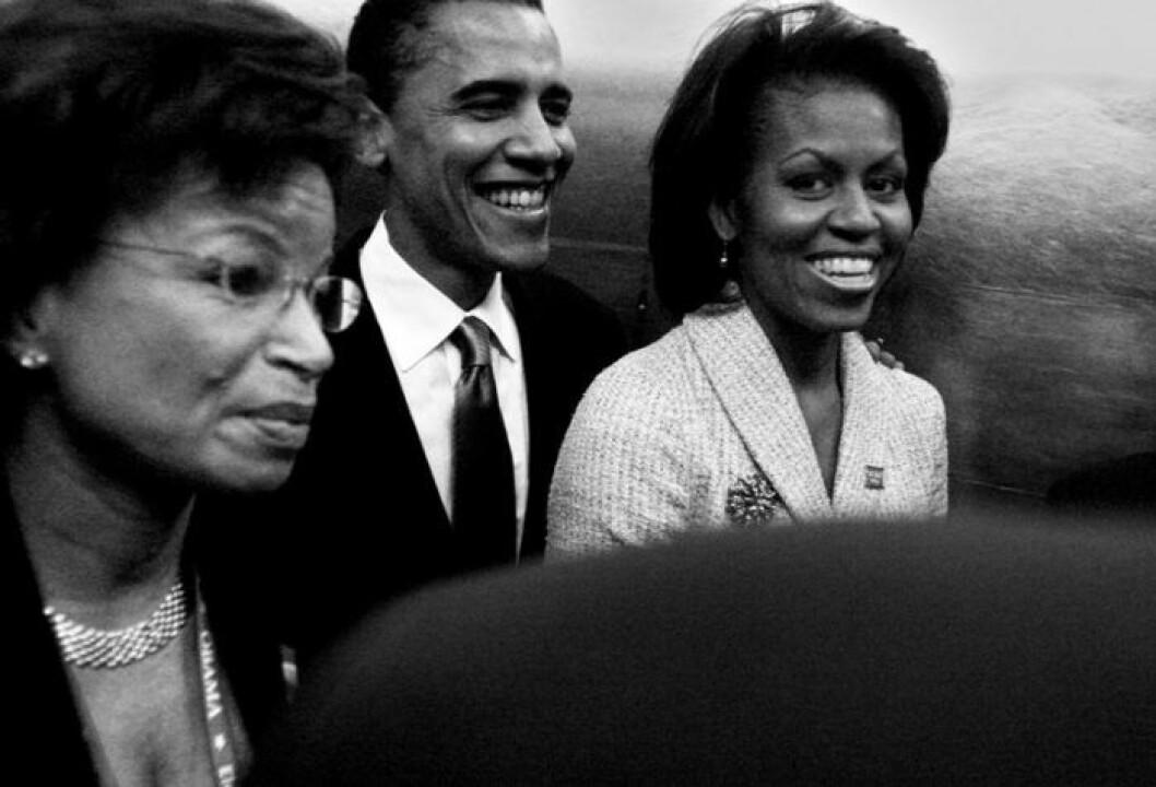 Michelle Obama med sin man Barack Obama under hennes tid som First Lady.