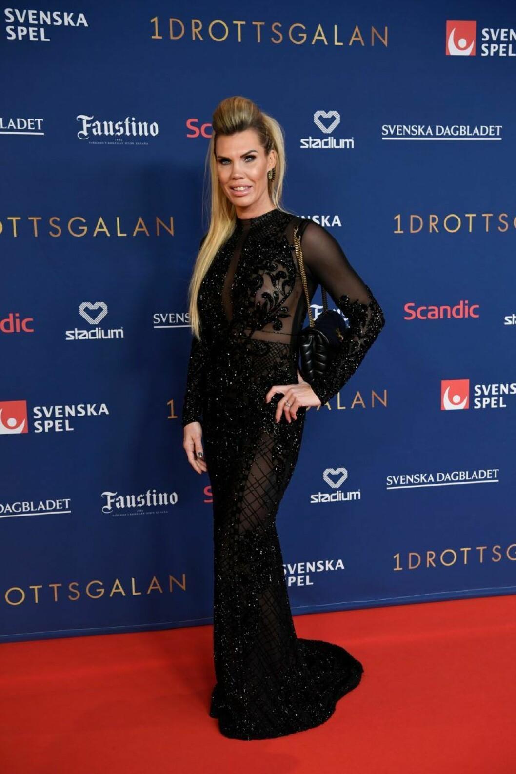 Mikaela Laurén på röda mattan på Idrottsgalan 2020