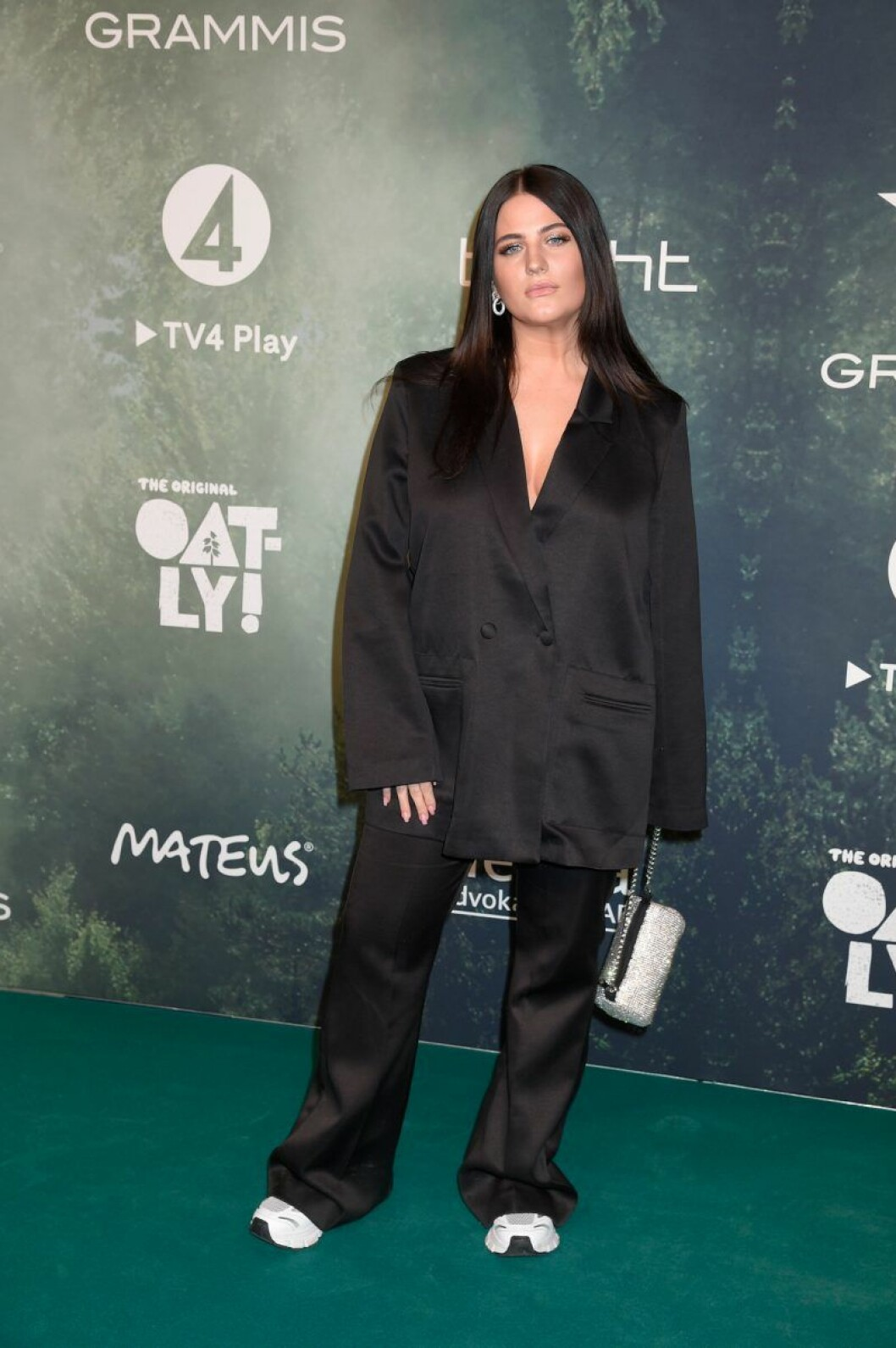 Mimmi Sandén på röda mattan på Grammisgalan 2020