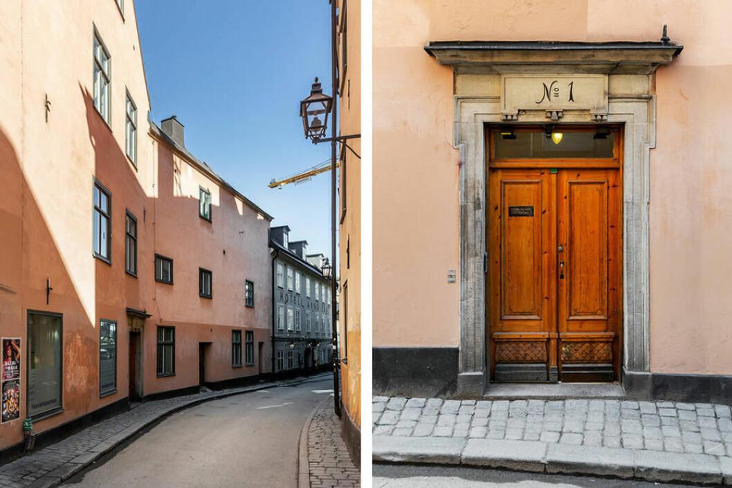 Historiska Mariagränd på Södermalm i Stockholm.