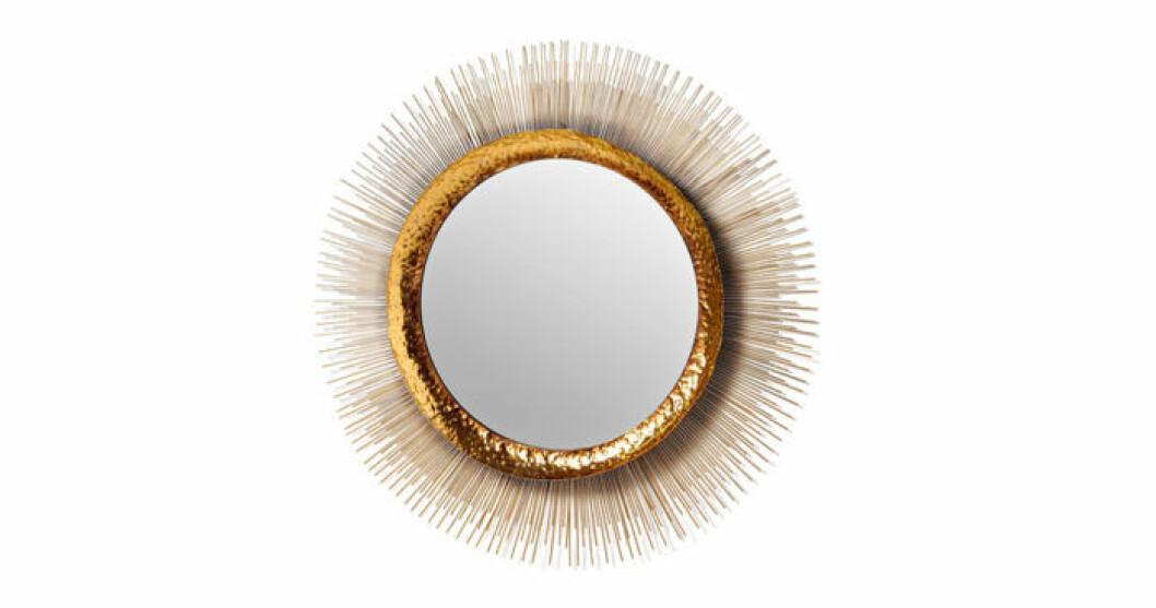 Mässingfärgad spegel