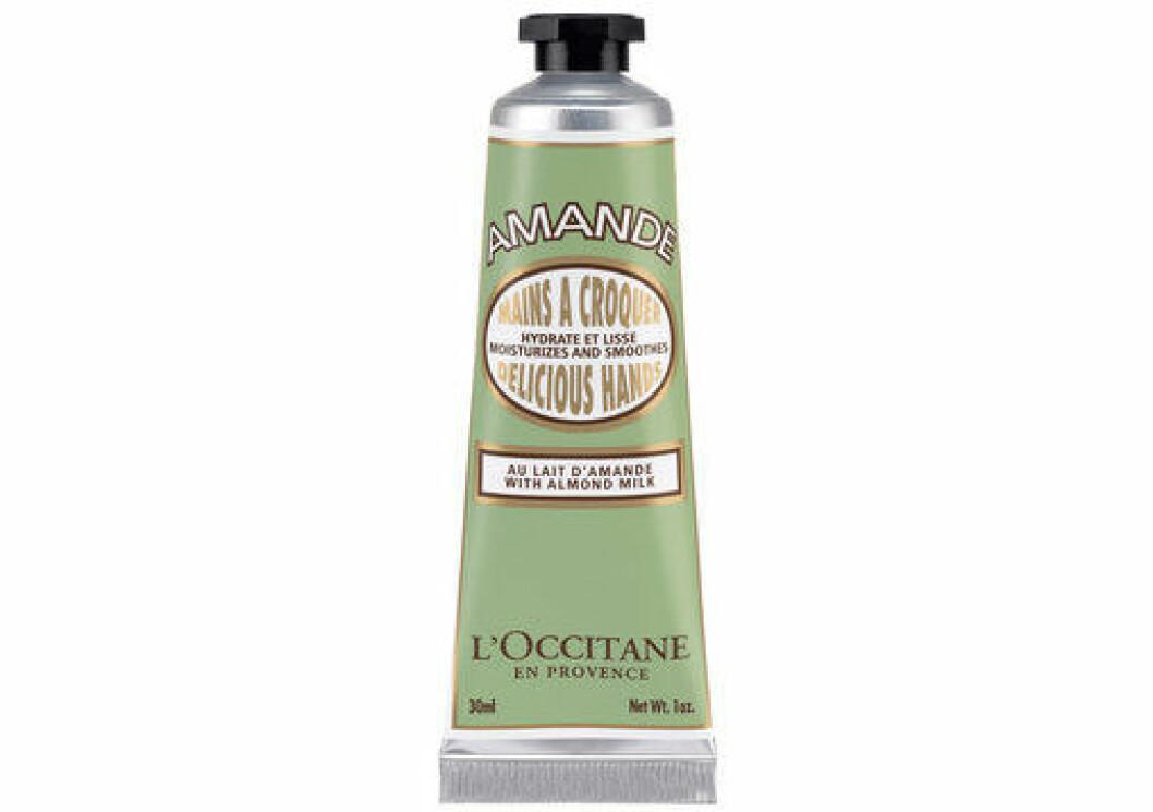 En bild på den mjukgörande handkrämen Loccitane – Almond Delicious Hands.