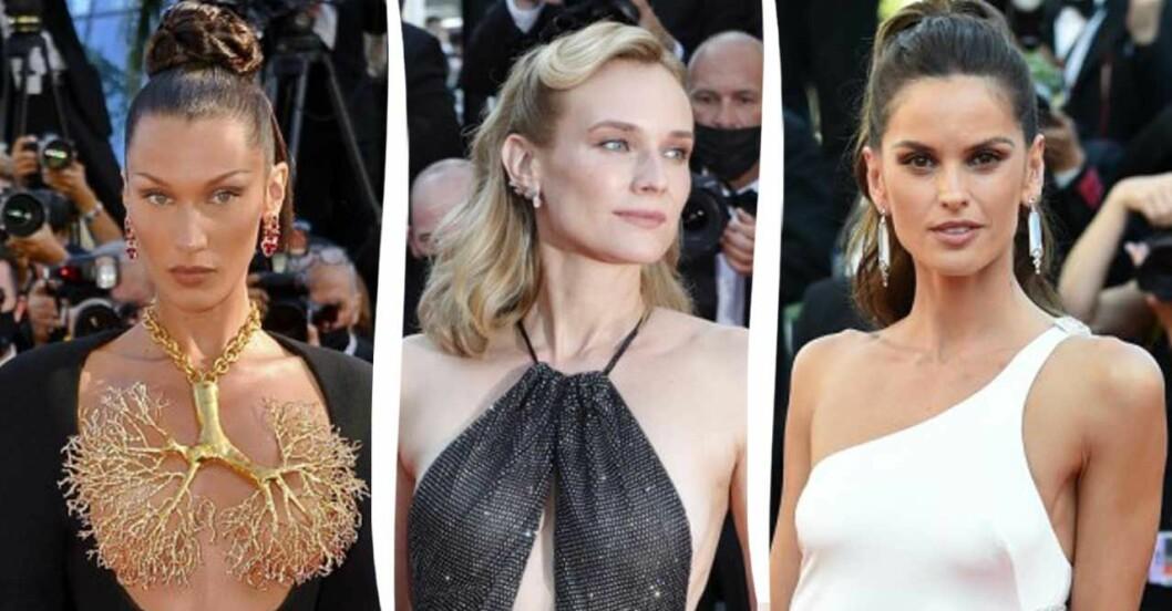 Mode röda mattan i Cannes