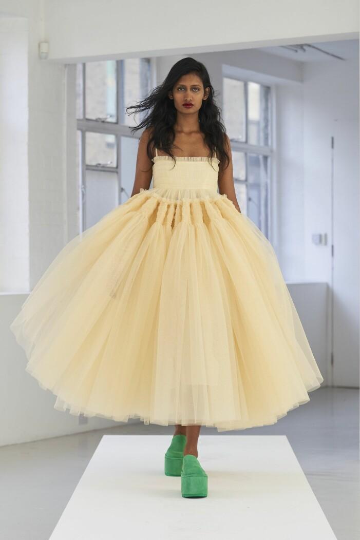 Molly Goddard ss 21 gul klänning