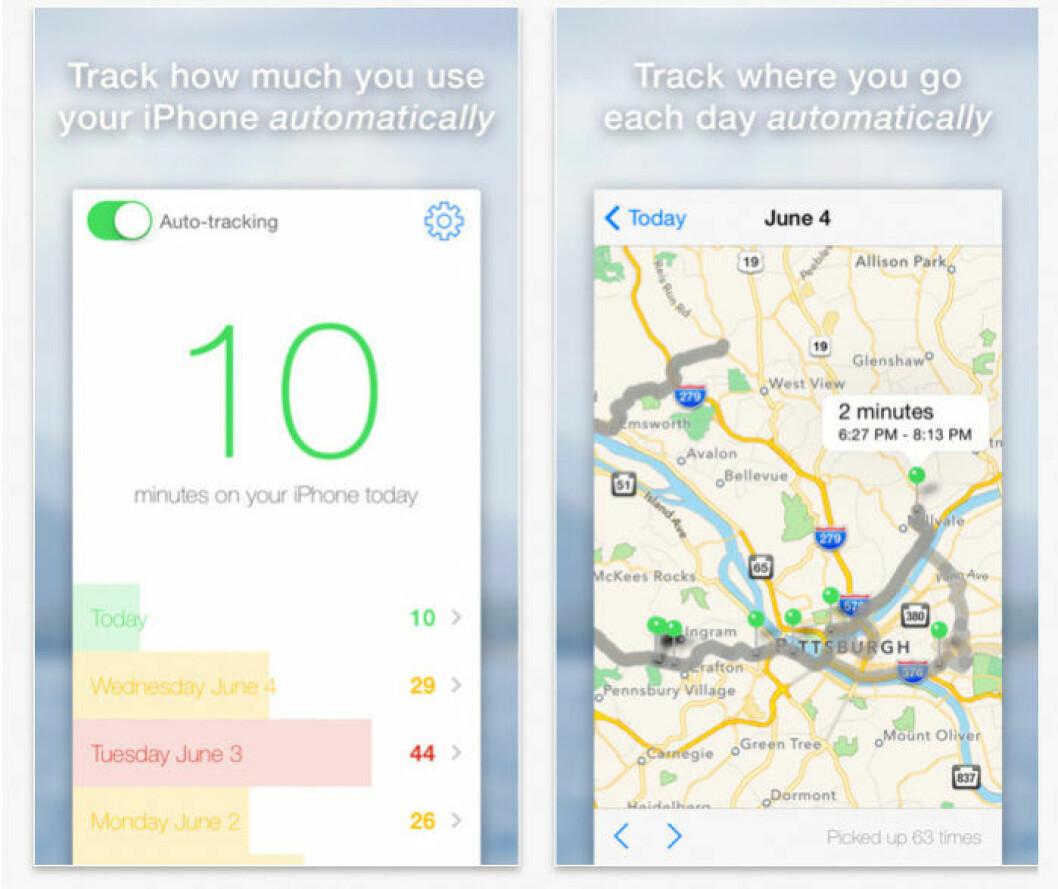 Appen Moment håller koll på hur mycket du använder din iPhone under dagen.