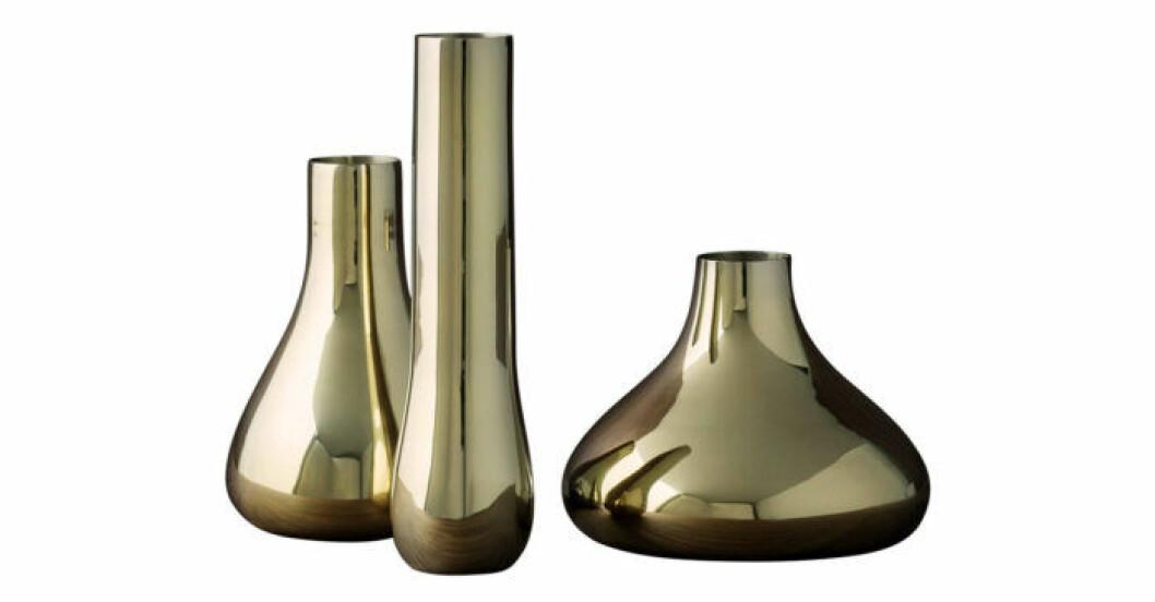 Trendiga vaser i mässing av Monica Förster